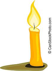 vektor, candle., abbildung
