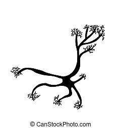 vektor, cells., enkel, design, illustartion., neuron