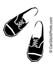 vektor, cipők