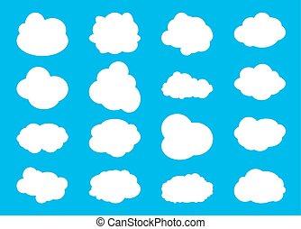 vektor, cloud., verschieden, satz, abbildung