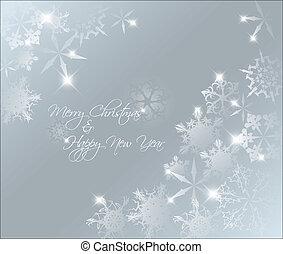 vektor, csillogó blue, elvont, karácsony, háttér