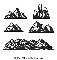 vektor, dát, neposkvrněný, hora, ikona, grafické pozadí.