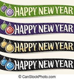 vektor, dát, o, opratě, jako, nový rok