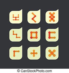 vektor, dát, o, překrásný, abstraktní, barva, ikona