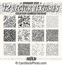vektor, dát, o, seamless, patterns., vybírání, o,...