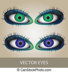 vektor, dírka, dát, eps10