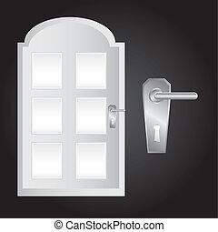 vektor, dörr