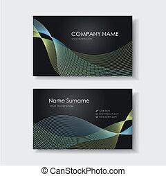vektor, design, business card, šablona