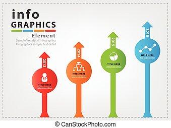 vektor, design, infographic, moderní
