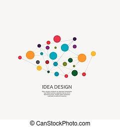 vektor, design, koppla samman
