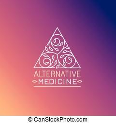 vektor, design, mall, medicin, logo, alternativ