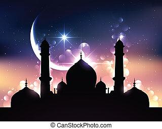vektor, design, ramadan