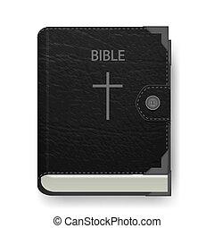 vektor, design, tvůj, bible