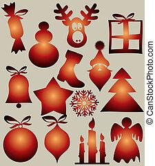 vektor, design, weihnachten