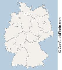 vektor, deutschlandkarte