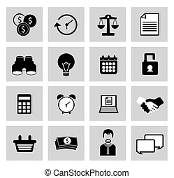 vektor, diverse, iconerne