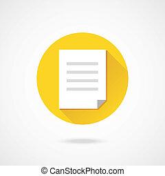 vektor, dokument, ikon