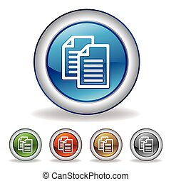 vektor, dokument, ikone