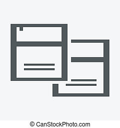 vektor, dokumentovat, ikona