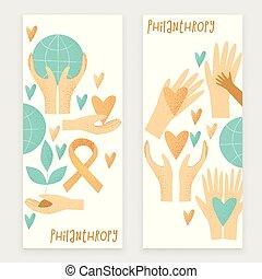 vektor, donation, begreb, philanthropy, konstruktion