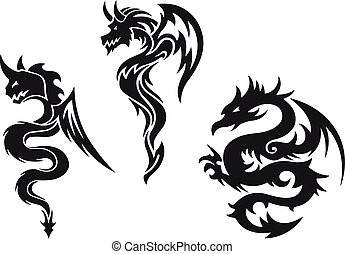 vektor, drak, čepobití