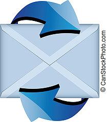 vektor, e-mail, zeichen