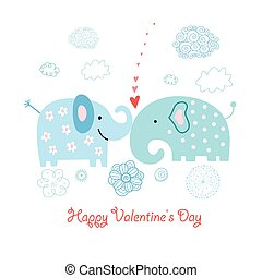 vektor elephants love