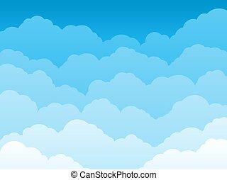vektor, elhomályosul, blue háttér, ég, ábra