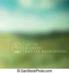vektor, elmosódott háttér, természet