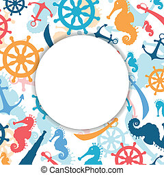 vektor, elvont, alapismeretek, háttér, tengeri