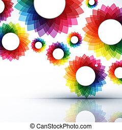 vektor, elvont, kreatív, ábra