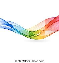 vektor, elvont, szín, lenget
