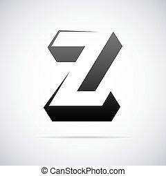 vektor, emblém, jako, litera, z