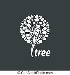 vektor, emblém, strom