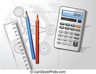 vektor, engineer's, desktop