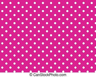 vektor, eps, 8, rosa, polka- punkte