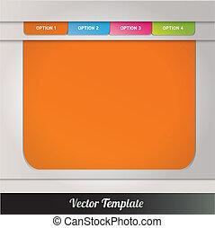 vektor, eps10, ilustrace, šablona