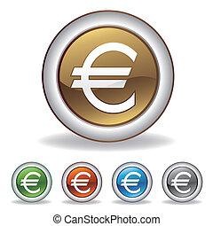 vektor, euro, ikona