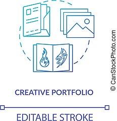 vektor, färg, leaflet., illustration., design, verkstad, skissera, skapande, portfölj, prov, begrepp, fodra, rgb, konstverk, teckning, idé, tunn, icon., annons, studio, isolerat, tidskrift, meny