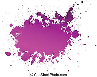 vektor, färga, plaska, bakgrund, illustration