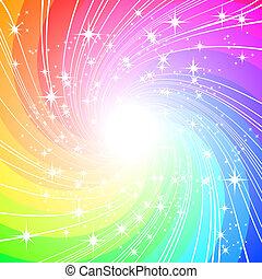 vektor, färgrik, bakgrund