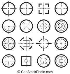 vektor, fadenkreuze, heiligenbilder
