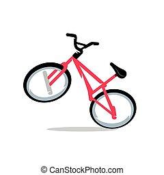 vektor, fahrrad, karikatur, illustration.