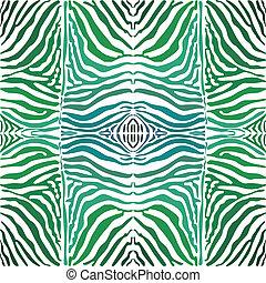 vektor, farbe, seamless, hintergrund, haut, zebra