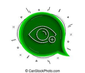 vektor, farsightedness, auge, linie, diopter, zeichen.,...