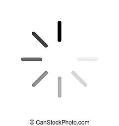 vektor, fehér, berakodás, fekete, ikon