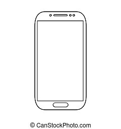 vektor, fehér, smartphones, modern, elszigetelt