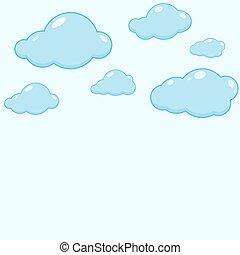 vektor, felhő, icons.