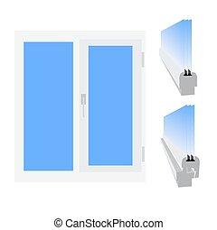 fenster vektor rge ffnete abbildung plastik vektor vektor suche clipart illustration. Black Bedroom Furniture Sets. Home Design Ideas