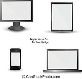 vektor, fester entwurf, dein, digital